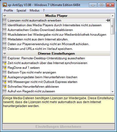 Full XP-Antispy screenshot